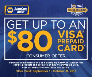Get up to $80 back on NAPA Shocks and Struts - mechanic Albuquerque