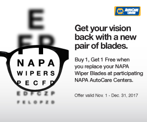 NAPA Wipers Buy One Get One Free